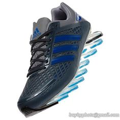Men's Adidas Springblade Razor Running Shoes A  Gray Blue|only US$88.00 - follow me to pick up couopons.