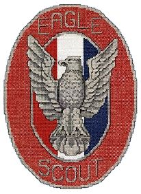 free cross stitch pattern for eagle scout which I'll probably never get around to making.