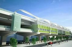www.railjournal.com Elevated station on Hanoi Line 1 designed by JKT Consultants