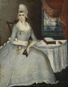 Hannah Maley (Mrs. Johannes Cornelis) Cuyler (b. 1769), Unidentified Artist, circa 1790. Albany Institute of History and Art.