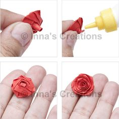 Quilling paper rose tutorial (similar to a ribbon rose)