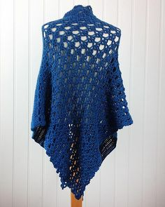 "These three shawls will adorn you or your home perfectly! Window Shawl - This is a lovely simple shawl, perfect for a child or a window! Size: 44"" across, 22"" deep at center. Materials: size 4 medium."