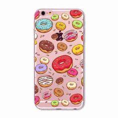 "Phone Case Cover For iPhone 6 6s 4.7"" Transparent Flowers Skull Cat Girls Macaron Dessert Ultra Soft TPU Back Capa Shell"