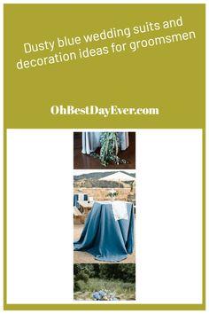 Dusty blue wedding ideas for groomsmen