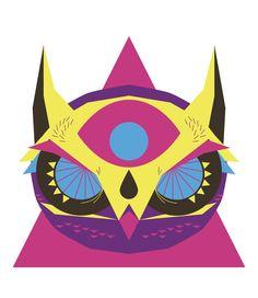 #troistone #tshirt #handmade #design #unique #fashion #owl #geometric #colors #triangle #eye