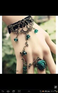 Truly a handflower :) Maybe try and make it for the bridesmaids? Garter crochet for wrist. Check with Hobby Lobby for charms and wire work