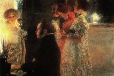 Schubert au piano, par Gustav Klimt - 1899 (Oeuvre détruite en 1945)