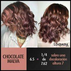 - All For Hair Color Trending Hair Color For Women, Cool Hair Color, Chocolate Mauve Hair, Hair Academy, Hair Color Formulas, Cabello Hair, Hair Color Techniques, Lilac Hair, Coloured Hair