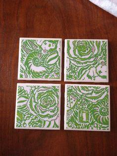 Kappa Delta Lilly Coasters