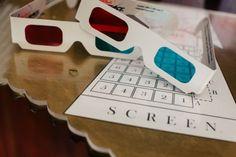 Cinema wedding 3D Glasses Photo Decor Props