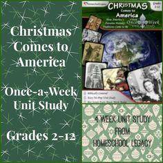 #Christmas Comes to America unit study #homeschool