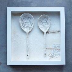 framed ceramic spoons by sarah jones-morris ceramics | notonthehighstreet.com