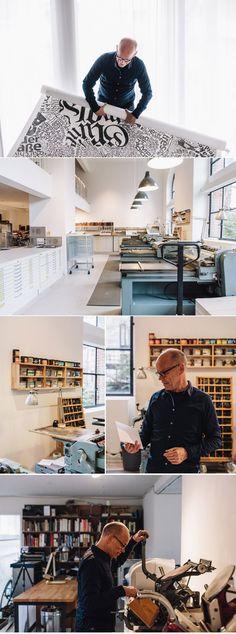 Erik Spiekermann - Typographer & Graphic Designer, Apartment & Studio, Berlin http://www.freundevonfreunden.com/interviews/erik-spiekermann/