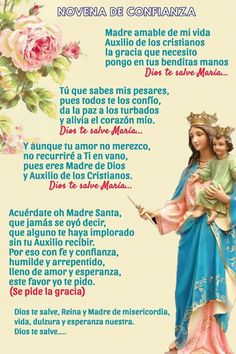 Catholic Prayers In Spanish, Catholic Bible Verses, Prayer Verses, Catholic Quotes, Prayer Quotes, Rosary Novena, Rosary Prayer, Holy Rosary, God Prayer