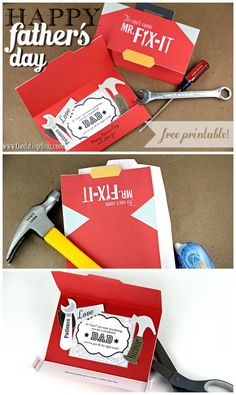 Perfect DIY card for Father's Day! Free download too!