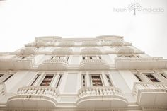 Fine Art Travel Photography Balconies to by HelenMPhotography, Architectural Photography, Wooden Doors, White Balconies, Puerto Rico, Old San Juan