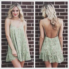 Floral babydoll dress. this is BEEAUTIFUL