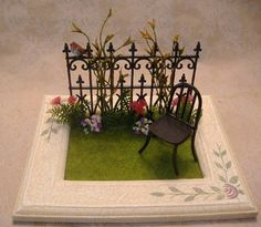 Garden fence vignette by Tracy Topps