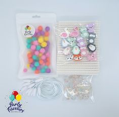 ANIMAL FRIENDS Necklace Party Activity Box - Party Favours Kids Craft Party Activity DIY Necklace Kit Silicone Beads Australia Kid Party Favors, Craft Party, Diy Necklace Kit, Activity Box, Friend Necklaces, Making 10, Party Activities, Birthday Party Themes, Crafts For Kids