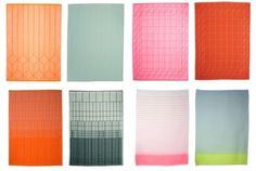 Lovely charming tea towels. Hay & Scholten & Baijings. Via Design for Mankind