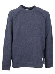 DONDUP Dondup Man Round-Necked Sweater Blue Panait. #dondup #cloth #fleeces-tracksuits