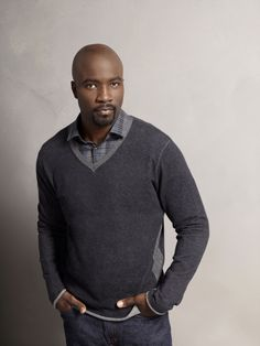 Mike Colter in Ringer Katja Herbers, Mike Colter, Character Design Inspiration, Men Sweater, People, Sweaters, Mens Tops, Image, Style