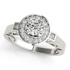 ELLIANA ENGAGEMENT RING in 18K White Gold - Price: ₹46,029.00. Buy now at http://www.solitairehouse.com/elliana-engagement-ring-in-18k-white-gold.html