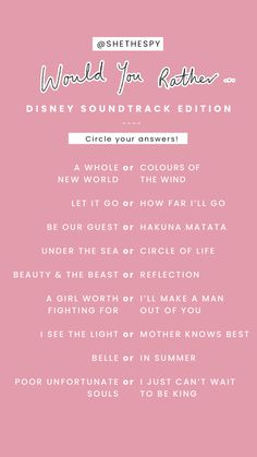 would you rather, disney songs -templates Instagram Story Questions, Instagram Story Ideas, Text Games, How Far Ill Go, Fun Questions To Ask, Interactive Posts, Have Courage And Be Kind, Disney Songs, Disney Movies