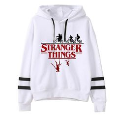 Stranger Things Season 3 Hoodie Women funny Hooded female hoodies, 3030 / S Stranger Things Sweater, Stranger Things Season 3, Stranger Things Clothing, Stranger Things Gifts, Stranger Things Merchandise, Teen Fashion Outfits, Mode Outfits, Mode Kawaii, Trendy Hoodies