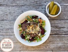 I thought I was destined to miss the Aussie beetroot/gherkin/burger combination forever! But not with the IQS Program - Deconstructed Hamburger in a Bowl - low in sugary-carb and full of flavour! Whole Food Recipes, Healthy Recipes, Healthy Kids, Healthy Meals, Thai Beef Salad, Beetroot Recipes, Homemade Hamburgers, Midweek Meals, Dinner Options