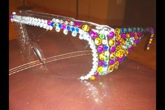 Home made Bedazzled lab goggles