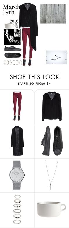 """""""20160319"""" by kakarichoh on Polyvore featuring ファッション, Joe's Jeans, Milly, TIGHA, Converse, Junghans, Lori's Shoes, Forever 21 と Marimekko"""