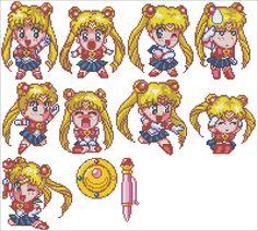 Sailor Moon Cross stitch