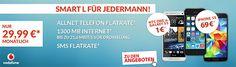 1300MB Allnet Flat - Vodafone Smart L mit TOP-Smartphone ab 1€ für 29,99€ http://www.simdealz.de/vodafone/vodafone-smart-l-1300mb-aktion-mit-top-smartphone/