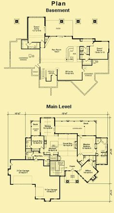 Floor plan.  Awesome elevation.  Maybe add hallway by br 2 to add on a couple bedrooms/baths