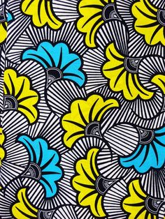 African wax fabric fleurs african fabric by the yards Ankara fabric African wax Print fabric african cotton Fabric flowers green white blue - Multicolored african fabric AFRICAN WAX PRINT fabric by the yard This popular fabric is known by the - Patterns In Nature, Textures Patterns, Print Patterns, African Textiles, African Fabric, Inspiration Artistique, African Print Fashion, African Prints, African Patterns