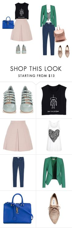 """""""Untitled #156"""" by mariela-hayoon on Polyvore featuring Miu Miu, Alexander McQueen, MANGO, Patrizia Pepe, Yves Saint Laurent and Steve Madden"""