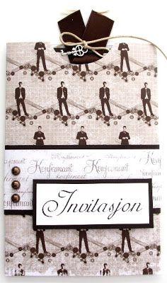 Kreativ Hobby: Anne Bente - Invitasjon til konfirmasjon (gutt) Anna, Signs, Creative, Shop Signs, Sign