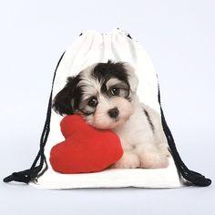 ♥ String Backpack - Dog heart ♥