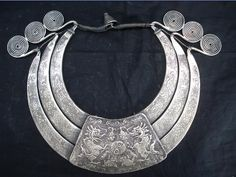 China | A silver necklace from the Miao people from Guizhou | ca. late 20th ~ early 21st century. | Silver alloy over base metal ~ 1.6kgs