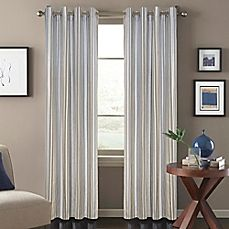 Regatta Stripe Window Curtain Panel in Blue