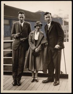 Anthropologist Gregory Bateson with Margaret Mead and Reo Fortune
