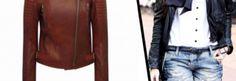 Jaquetas de couro Carmim perfeitas para usar com jeans