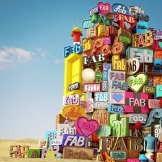 3D Letter Art I've written about 3D type a few... | Type Worship: Inspirational Typography & Lettering