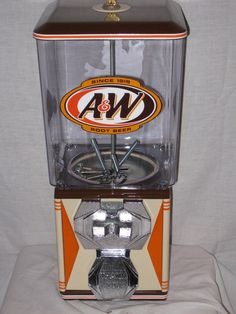 A&W Root beer A&A Candy Vending Machine,gumball, Coke, Acorn, Victor, Oil,Gas #NorthwesternAcornVictor7UPCokePepsi