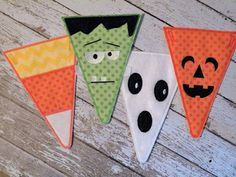 HALLOWEEN PENNANTS BANNER  machine embroidery design on Etsy, $11.50