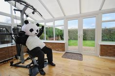 This man put on a panda suit in order to sell his house and we have so many questions