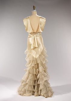 This American silk Irene evening dress was created in about 1935. The back is just lovely.