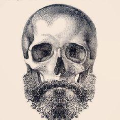 Beard Skull Tattoo. @Ryan White