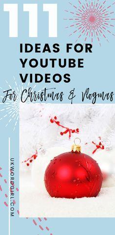 10 Christmas Vlogmas Ideas Christmas Youtube Channel Ideas Christmas Fun